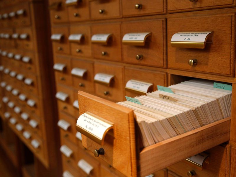 Image result for library card catalog
