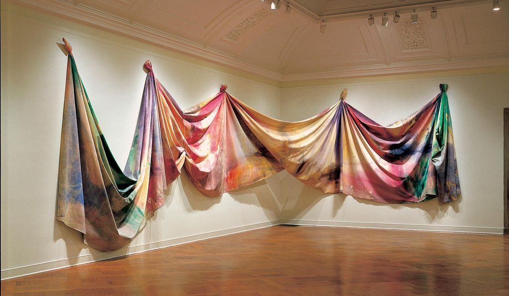 Pioneering Color Field painter Sam Gilliam's 1969 <em>Light Depth</em> has particular significance in Washington, D.C.; it was commissioned by the now defunct Corcoran Gallery of Art in response to that museum's architecture.