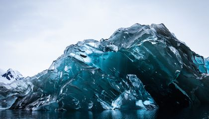 An Iceberg Flipped Over, and Its Underside Is Breathtaking