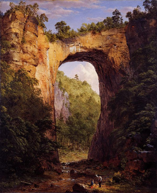 Natural Bridge, Frederic Edwin Church, 1852