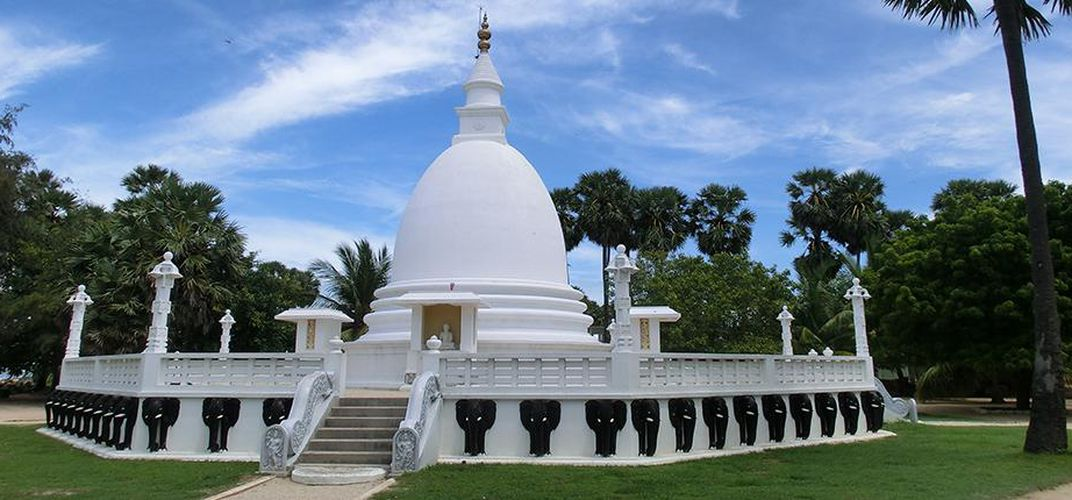 A replica of the Narammala Valamitiyawa Temple stupa