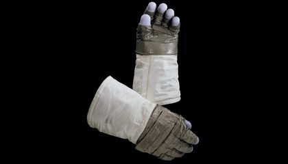 Check Out the Lunar Dust That Still Lingers On Neil Armstrong's Gloves