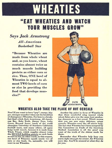 Jack Armstrong Wheaties Box