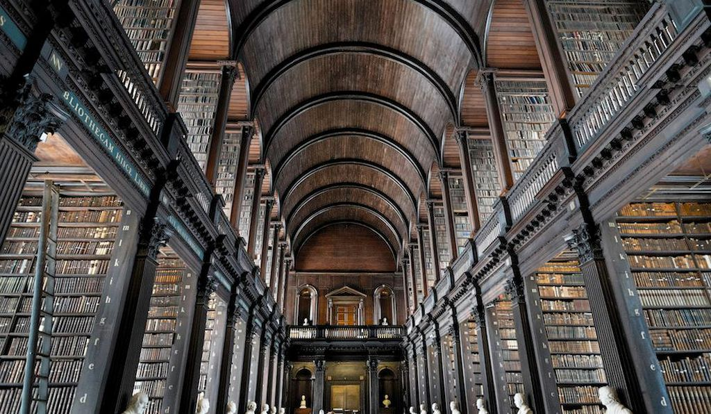 Inside the library at Trinity College, where Stoker was a student.