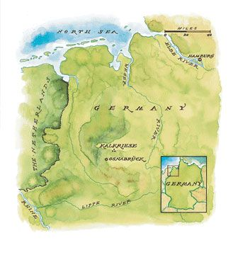 Between 6 B.C. and A.D. 4, Roman legions established bases on the Lippe and Weser rivers.