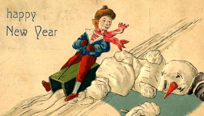 Outrageous Postcards and Ads of Snowmen Gone Wild