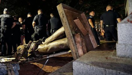 Protestors Pulled Down a Confederate Statue at the University of North Carolina