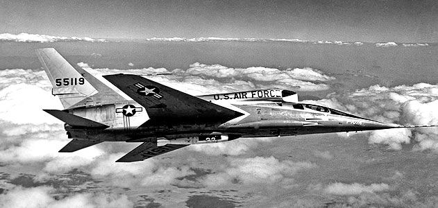 Although an F-107A pilot would have had difficulty checking his six, he probably could have outrun his adversary. In 1956 tests, the aircraft reached Mach 2.