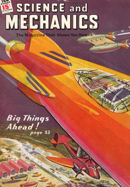 Cover of the October, 1944 issue of Science and Mechanics