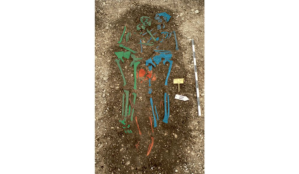 Scientists analyzed teeth from two sets of remains from this grave site in a Bavarian cemetery.