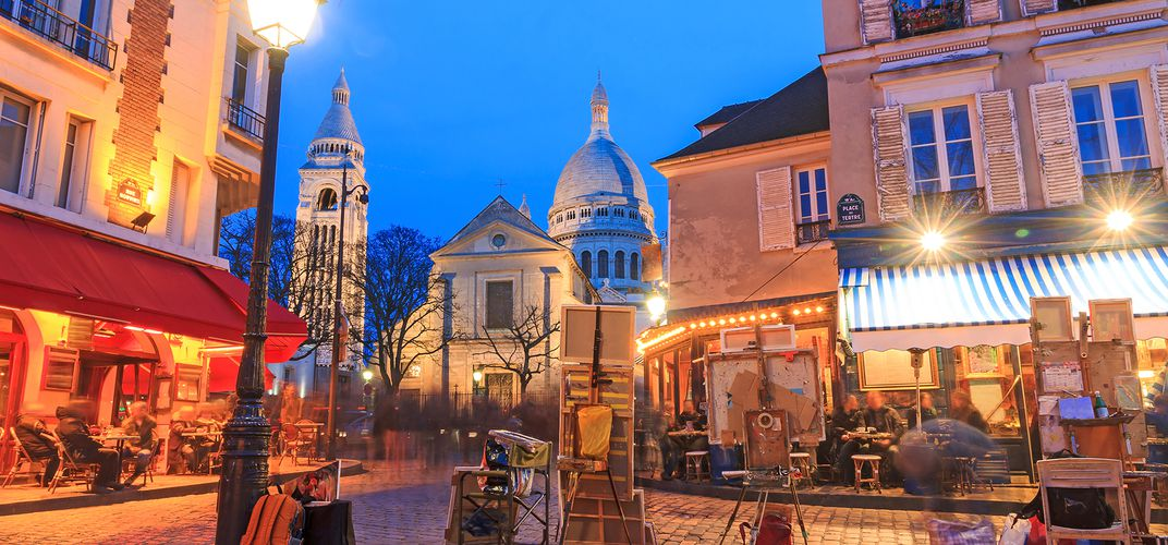 Place de Tertre by the Sacre Coeur