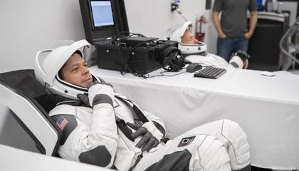 Astronauts Test Out Their Sleek New SpaceX Flight Suits