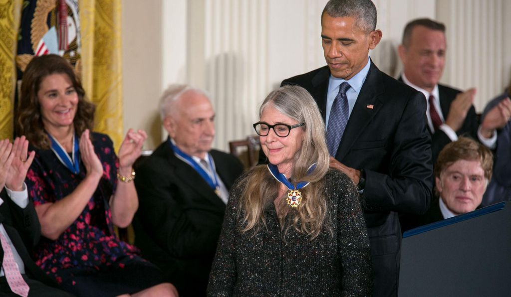 "In 2016, President Barack Obama awarded Hamilton the Medal of Freedom, noting that ""her example speaks of the American spirit of discovery."""