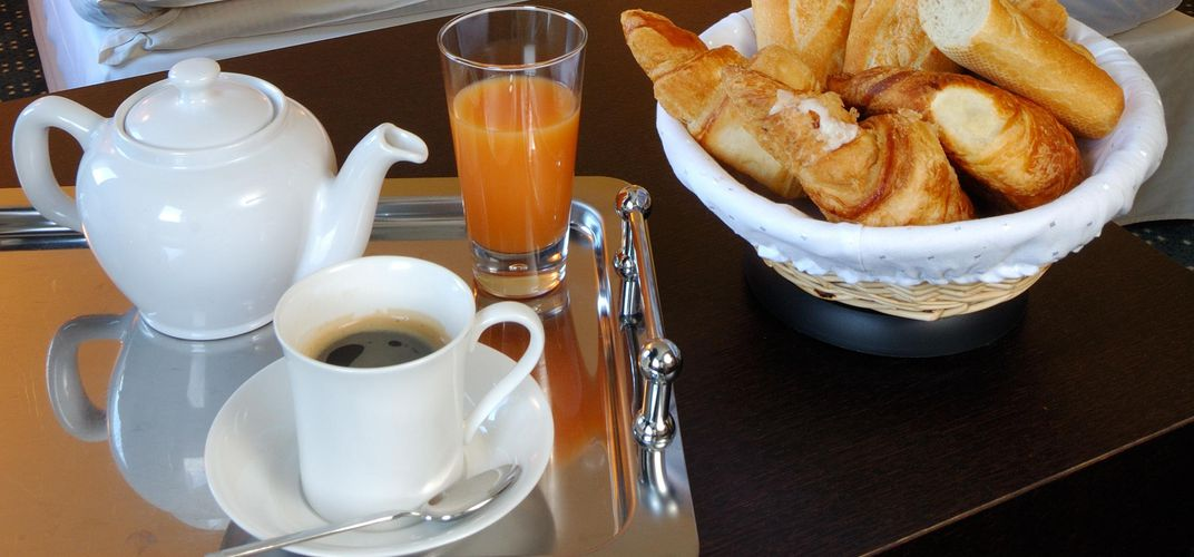 Traditional French breakfast or <i>petit-déjeuner</i>