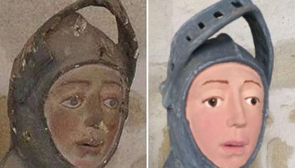Restorationist Botches 16th-Century Spanish Statue of Saint