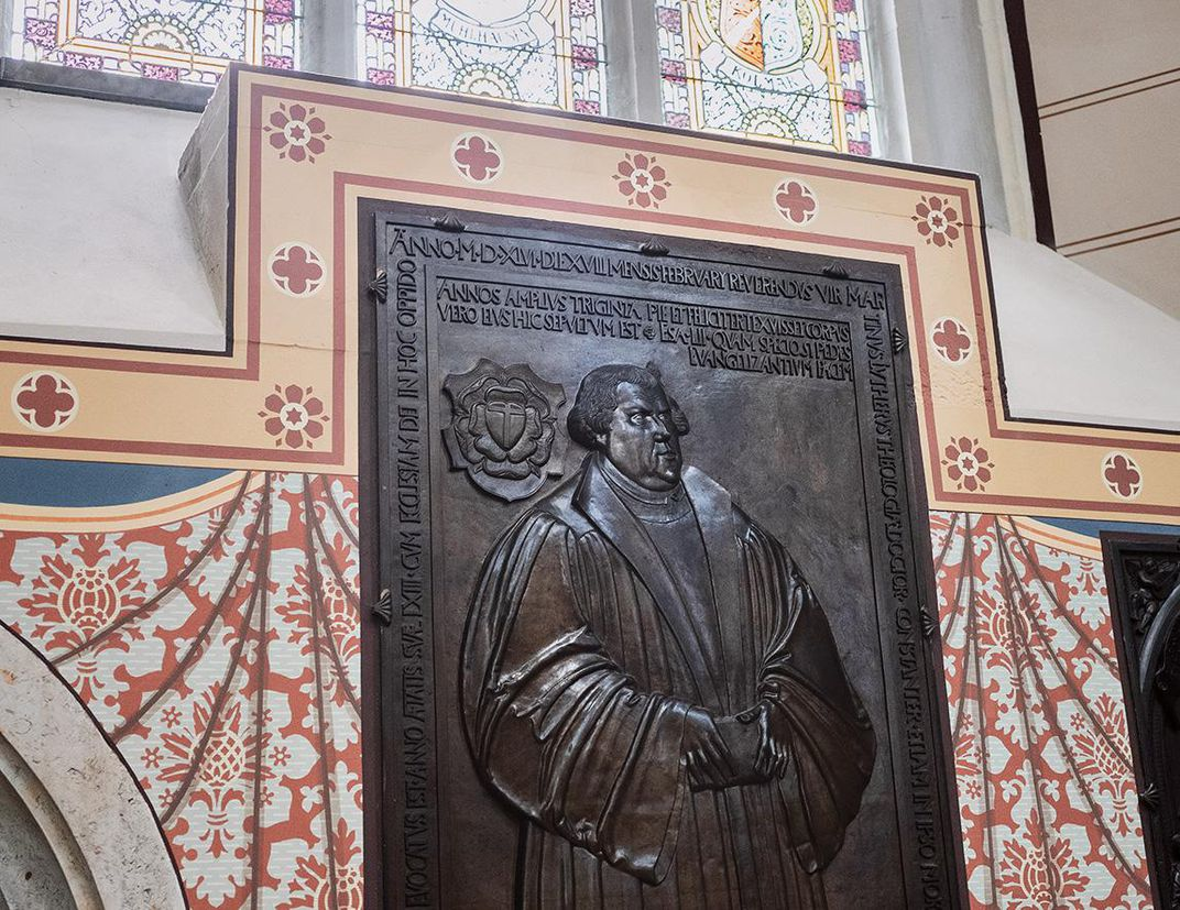 A relief of Martin Luther