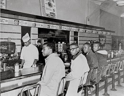 fighting the racial segregation a protest of four students in greensboro 1960 It was originially four black college students fighting against racial segregation in a restaurant whose official policy was to deny service to anyone but whites they were denied service, but the refused to give up their seats.