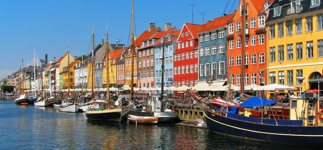 Charming port area of Copenhagen