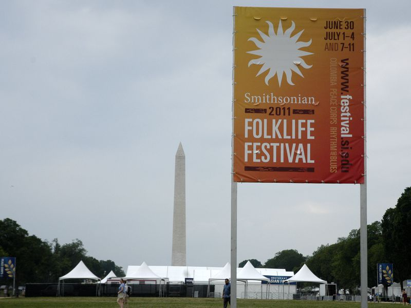 The tents go up for the 2011 Smithsonian Folklife Festival