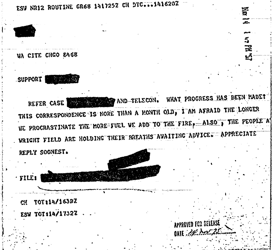 One of the declassified CIA documents uploaded to the <em>Black Vault</em> portal
