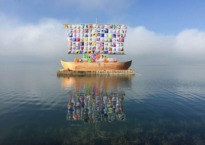 Caption: Former Soviet Art Duo Crafts Whimsical Wonderlands