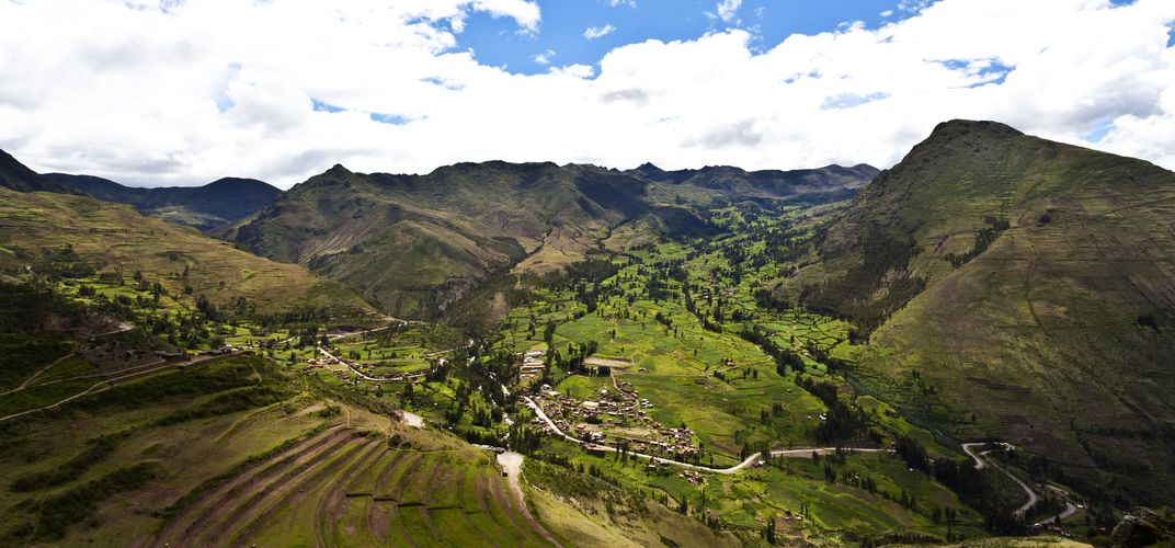 Terraced landscape of Písac in the Sacred Valley