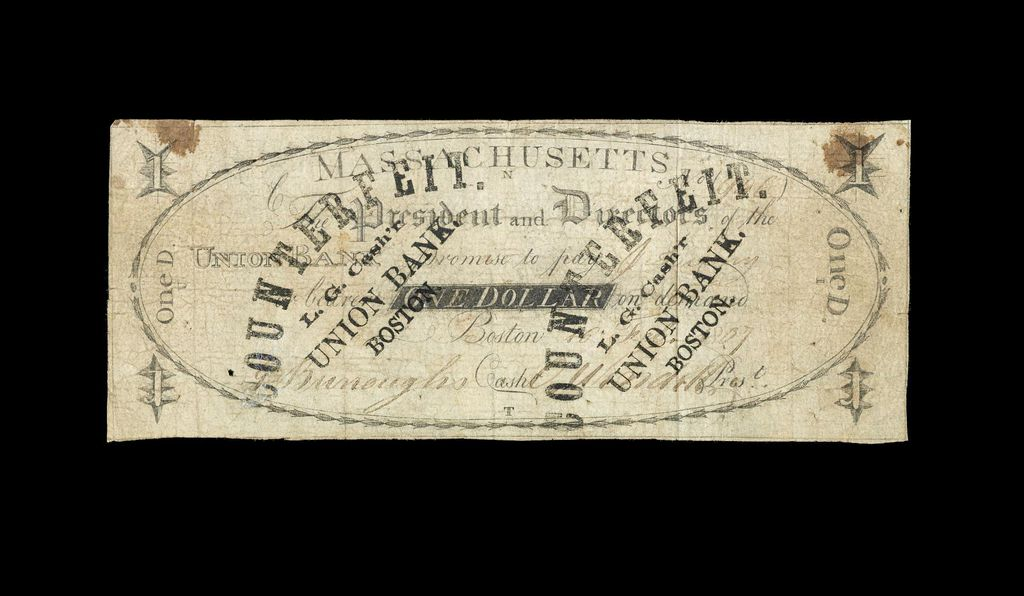 Massachusetts, 1 Dollar, 1807 (Counterfeit)