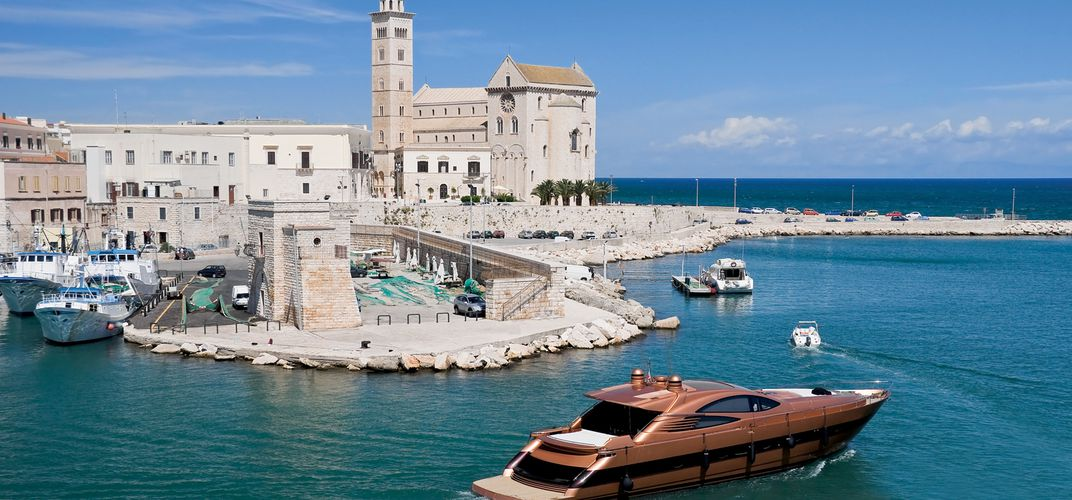 The cathedral and port of Trani, Apulia