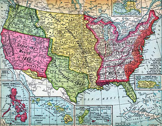 Top NationBuilding Real Estate Deals History Smithsonian - Us map after sewards folly