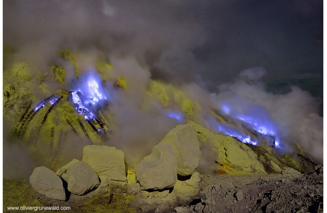 Why Does This Indonesian Volcano Burn Bright Blue? | Science