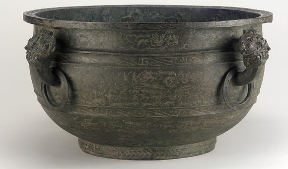 Basin (jian) With Narrative Scenes, Middle Eastern Zhou dynasty, c. 5th century BCE