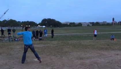 The Nationals' Bryce Harper Plays Softball on the Mall