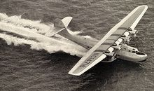 "The China Clipper ""scudded along a considerable sea swell"" before vaulting into the air, reported Leo Kieran."