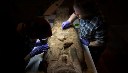 Archaeologists Discover Paintings of Goddess in 3,000-Year-Old Mummy's Coffin
