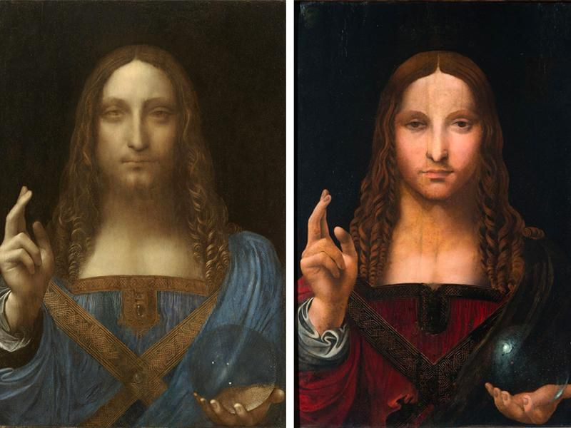 Salvator Mundi original and copy