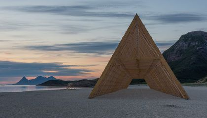 This Beach Sculpture Is Modeled After Norwegian Fish Drying Racks