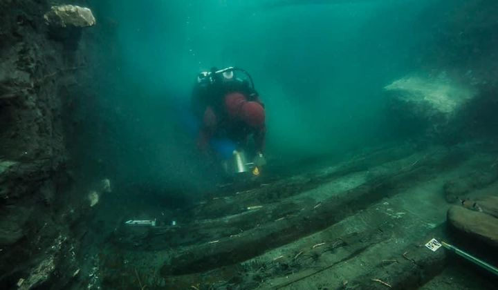 Ancient Ship Found in Sunken Egyptian City