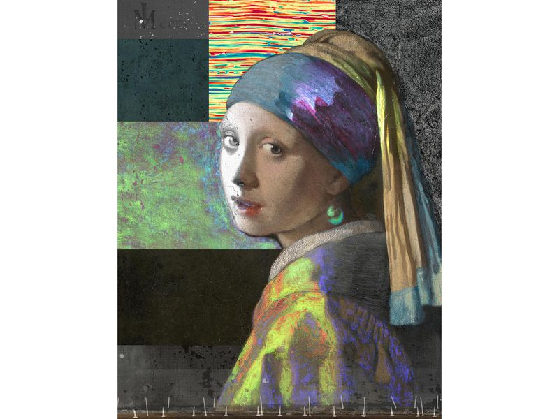 Composite image of 'Girl With a Pearl Earring'
