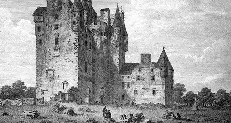 Glamis Castle in the 18th century, shortly before its