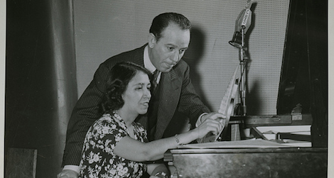 Clotilde Arias in 1942 with the Argentine composer Terrig Tucci