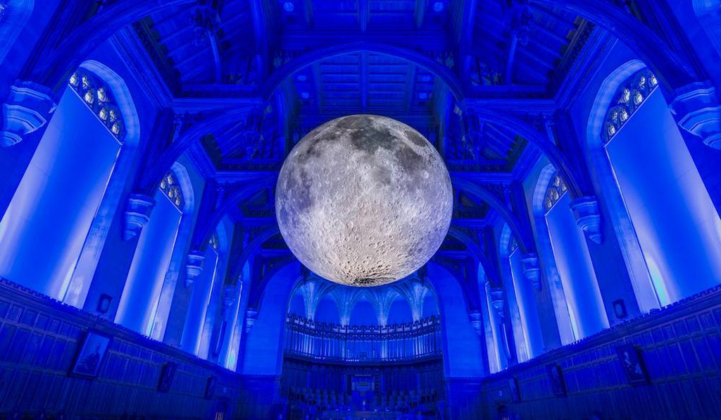 The Museum of the Moon is a touring exhibition with stops around the world, including this cathedral in Leeds.