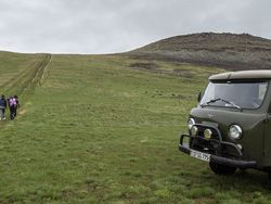 Ride in a Soviet-era jeep and find ancient petroglyphs image