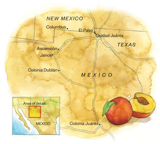 Colonia Lebaron Mexico Map.The Romneys Mexican History Travel Smithsonian