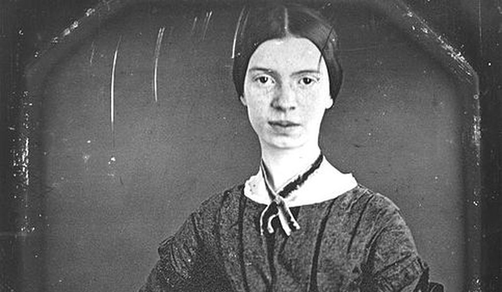 Daguerreotype of the poet Emily Dickinson, taken circa 1848. (Restored version.)