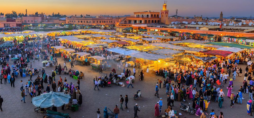 Djemaa El Fna Square and Koutoubia Mosque, Marrakech