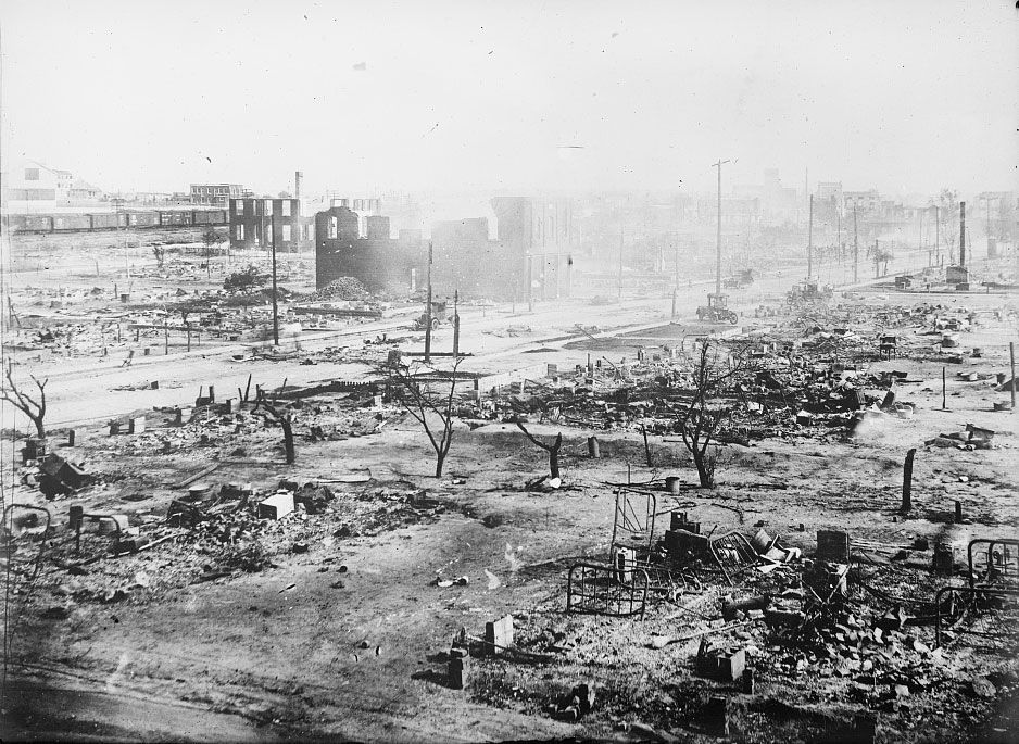 Ruins after the 1921 Tulsa Massacre