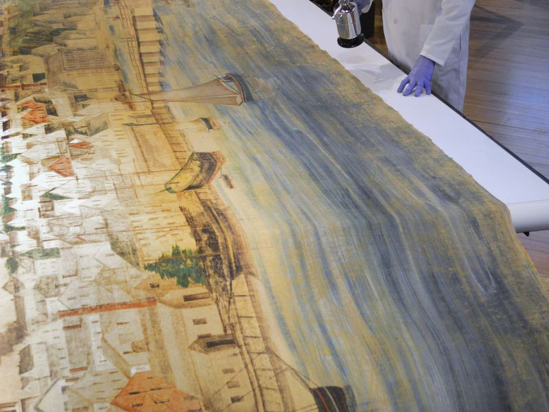 Museum restores North America's longest painting