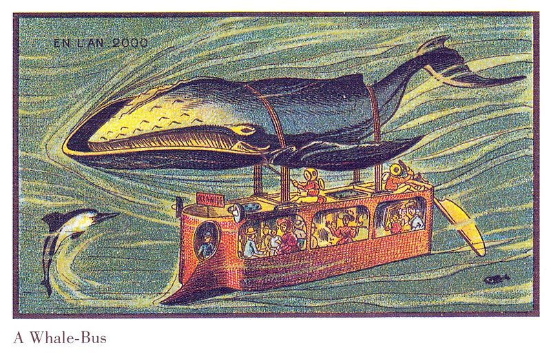 A French postcard issued around 1900, predicting La France's future