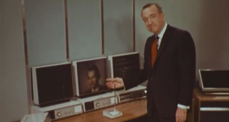 Walter Cronkite gives a tour