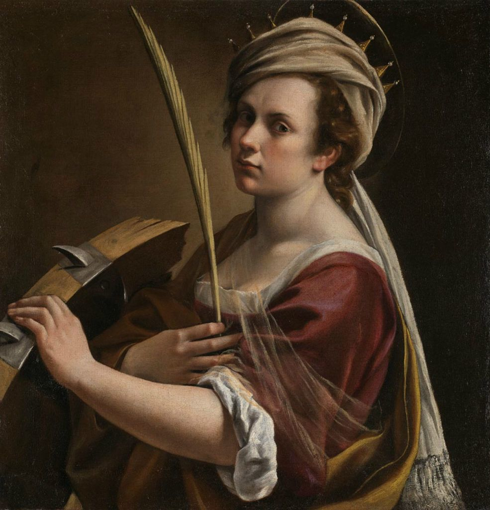Artemisia Gentileschi Self-Portrait as Saint Catherine of Alexandra